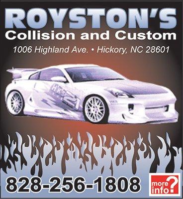Royston's Collision Ad