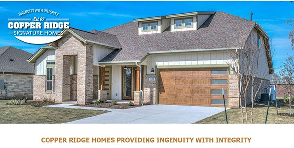 Copper Ridge Signature Homes Website
