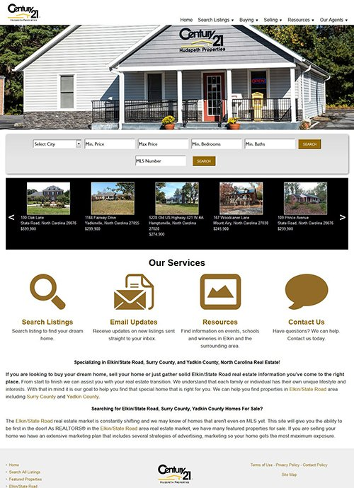 elkinrealestate.com After Screen Shot