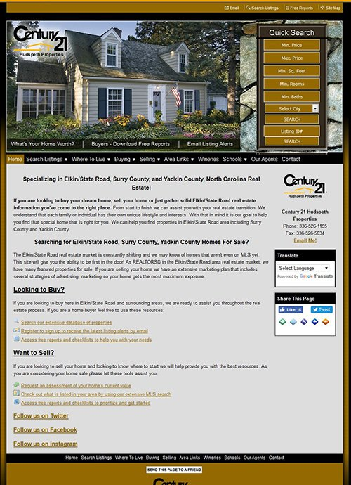 elkinrealestate.com Before Screen Shot