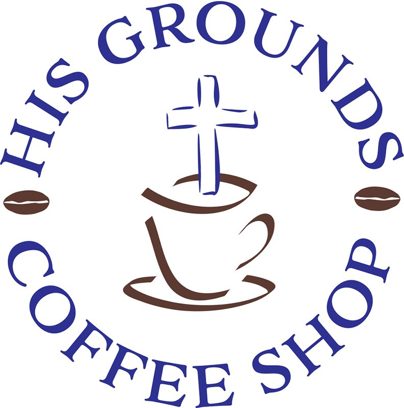 His Grounds Coffe Shop Logo
