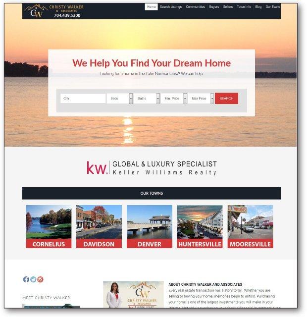 Real Estate Website - ChristyWalker.com