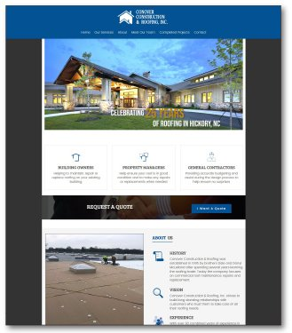 Conover Construction & Roofing's new website