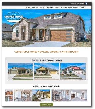 Copper Ridge Signature Homes Website