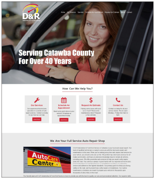DAndRAutoCareCatawbaNC.com Auto Repair Website