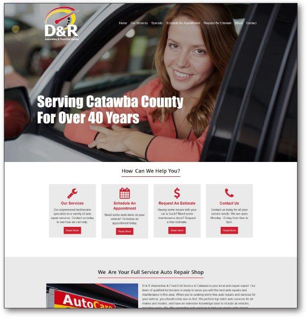 Auto Mechanic Website - D & R Automotive & Front-End Service