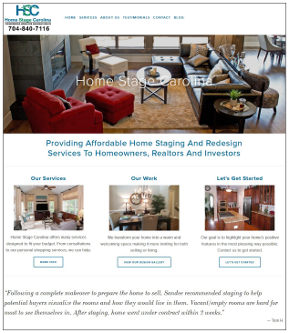 HomeStageCarolina.com Staging Website