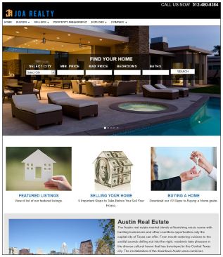 JoaRealty.com Real Estate Website