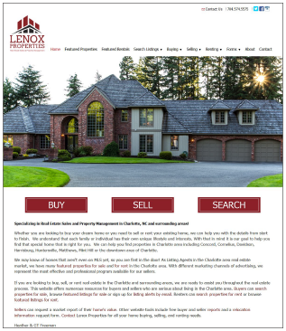 LenoxProperties.com Real Estate Website