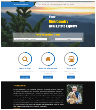 NCMountainsHome.com Real Estate Website