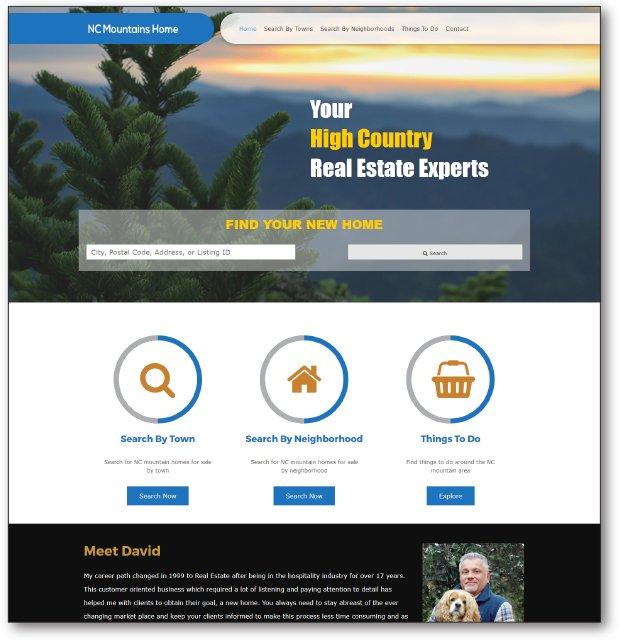 Real Estate Website - NCMountainsHome.com