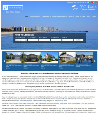 BuyAndRentMyrtleBeach.com Real Estate Website