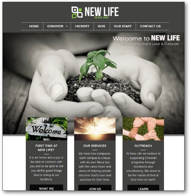 New Life Authentic Christian Community's new website
