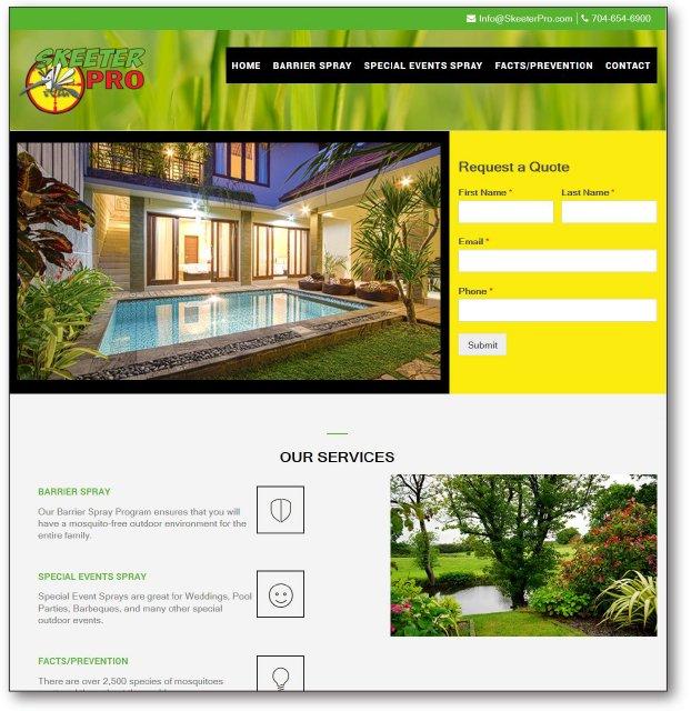 Skeeter Pro Website