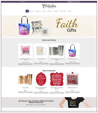 DaisyDeeArtStudio.com eCommerce Website