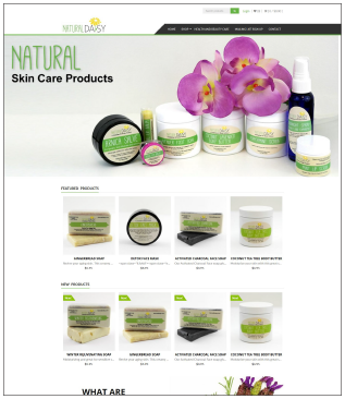 NaturalDaisy.com E-commerce Website