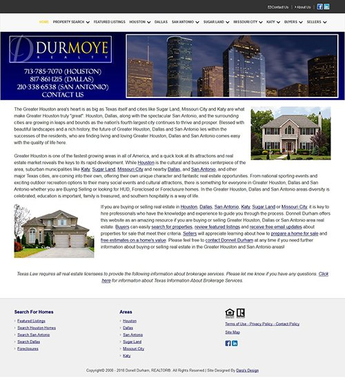 DurmoyeRealty.com Website After