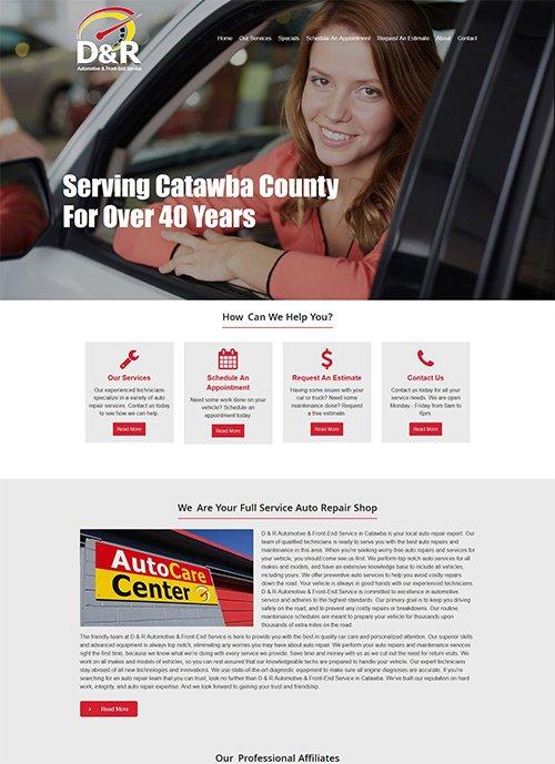 D & R Automotive & Front-End Service Website After