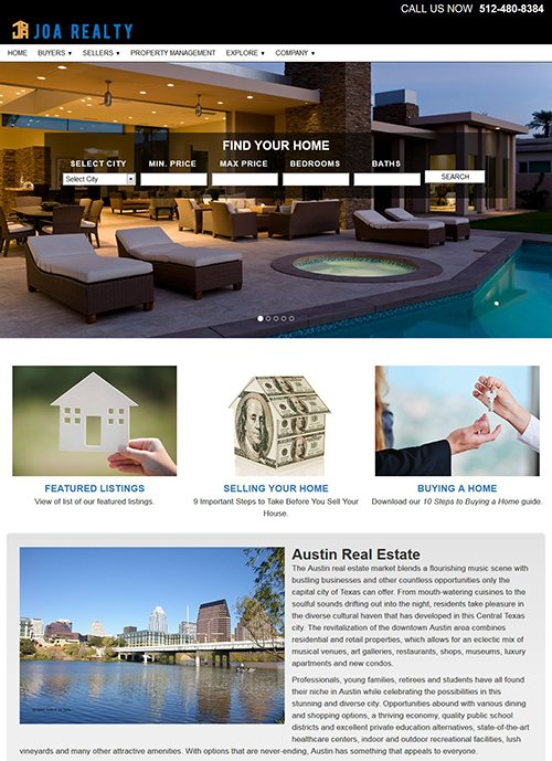 Joe Realty Website After