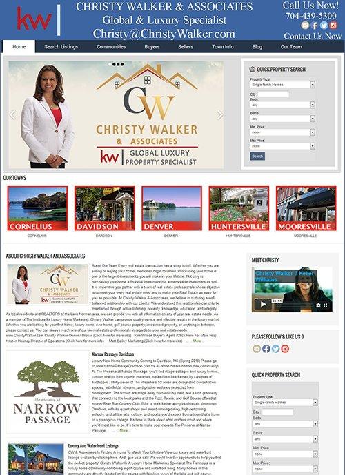 ChristyWalker.com Website Before