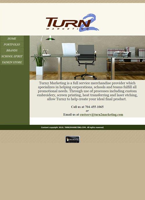 turn2marketing.com website before